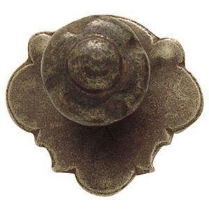 FERRURES ET PATINES - bouton de meuble en fer vieilli style louis xii po - Botón De Mueble Y Armario