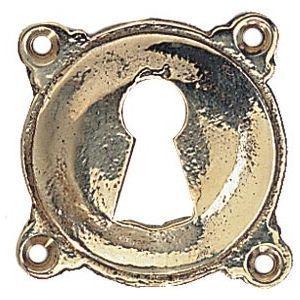 FERRURES ET PATINES - entree de clef ronde en bronze - trou de clef - po - Entrada De Llave