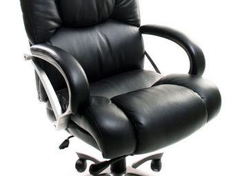 Miliboo - titus fauteuil de bureau cuir noir - Sillón De Escritorio