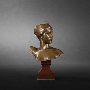 Expertissim - alexandre falguiere. buste de diane en bronze - Busto