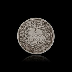 Expertissim - une pièce de 5 francs, type hercule, lyon 1848 - Moneda