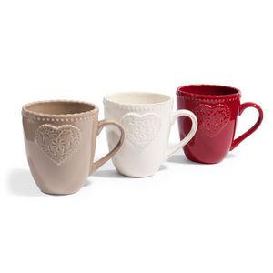 MAISONS DU MONDE - assortiment de 6 mugs lovely - Taza