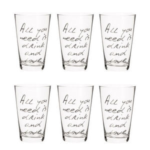MAISONS DU MONDE - coffret 6 verres all you need - Vaso