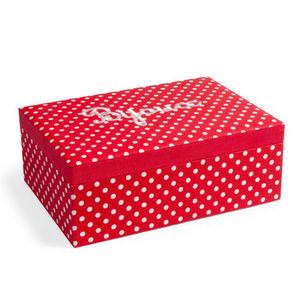 Maisons du monde - boîte à bijoux rétro rouge à pois - Joyero