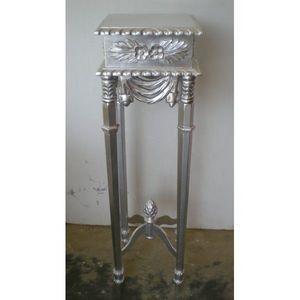 DECO PRIVE - sellette en bois argente modele ananas - Pedestal