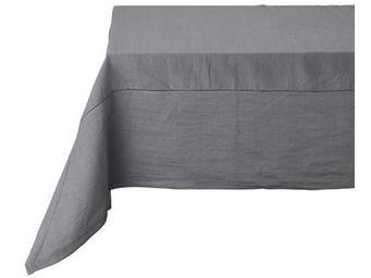 Athezza Home - nappe lin lens anthracite 170x170cm - Mantel Rectangular