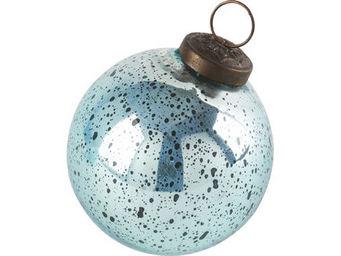Athezza Home - boule mercuris�e aqua blue d8cm - Bola De Navidad