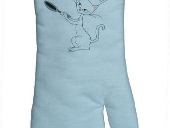 SIRETEX - SENSEI - gant à four imprimé chat chef cuisinier - Manopla