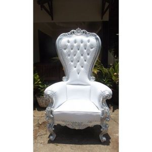 DECO PRIVE - trone royal pour mariage argent et imitation cuir - Decoración De Eventos