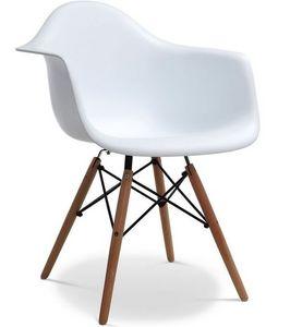 Charles & Ray Eames - chaise eiffell aw blanche charles eames lot de 4 - Silla De Recepción