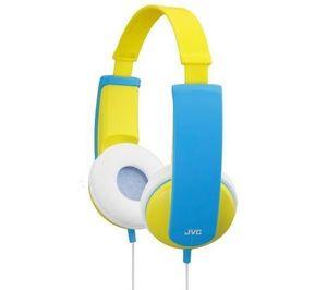 JVC - casque enfant ha-kd5 - bleu/jaune - Cascos