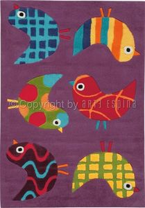 Arte Espina - tapis design enfant - les moineaux siffleurs - Alfombra Para Niño