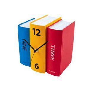 Present Time - horloge livres colorés - Despertador