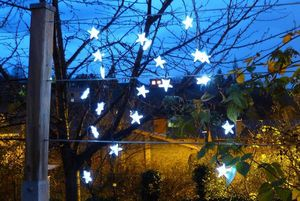 FEERIE SOLAIRE - guirlande solaire etoiles 20 leds blanches 3m80 - Guirnalda Luminosa