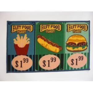 ILIAS - tapis de cuisine fast food 50 x 80 cm - Alfombra Fregadero