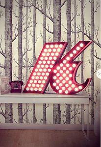 DELIGHTFULL - k - Letra Decorativa