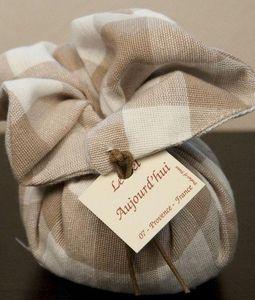 LE BEL AUJOURD'HUI - fleur de lin en lin vichy beige - Bolsa Perfumada