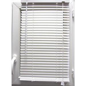 Luance - store vénitien pvc blanc 40x130 cm - Estor Enrollable