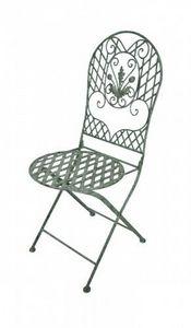 Demeure et Jardin - chaise en fer forgé collection chêne - Silla De Jardín