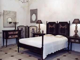 PROVENCE ET FILS - lit coquillages / couchage 180 / s�rigraphie coqui - Cama De Matrimonio