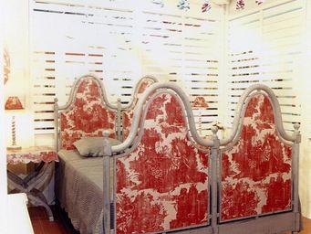 PROVENCE ET FILS - lit toscan toile de nantes couchage 160 / t�te de - Cama De Matrimonio