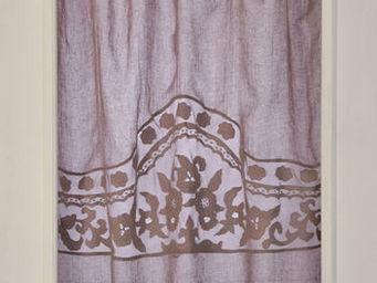 Coquecigrues - paire de rideaux florentine glycine - Cortina Confeccionada