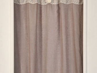 Coquecigrues - paire de rideaux vertu glycine - Cortina Confeccionada