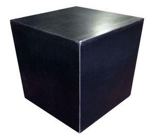 Mathi Design - cube design acier brut - Mesa De Centro Forma Original