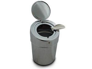 WHITE LABEL - magnifique cendrier portable chromé accessoire fum - Cenicero