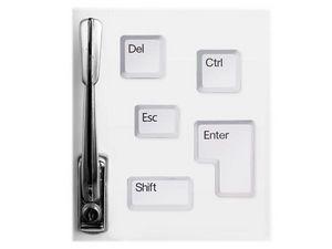 WHITE LABEL - lot de 5 aimants touches de clavier objet deco mai - Imán