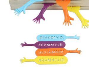 WHITE LABEL - 4 marque-pages style mains help me objet deco mais - Marcapáginas