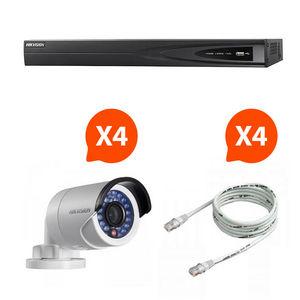 CFP SECURITE - videosurveillance - pack nvr 4 caméras vision noct - Cámara De Vigilancia