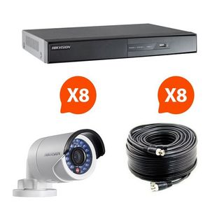 CFP SECURITE - kit videosurveillance turbo hd hikvision 8 caméra - Cámara De Vigilancia