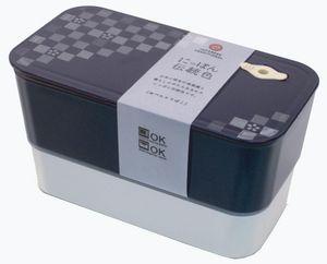 SAKURA BENTO - square bento 2 étage nasukon - Caja Bento