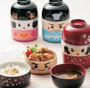SAKURA BENTO - kokeshi - Caja Bento