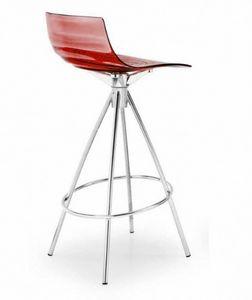 Calligaris - chaise de bar design l'eau de calligaris rouge tr - Silla Alta