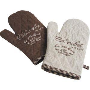 Aubry-Gaspard - lot de 2 gants de cuisine - Manopla De Horno