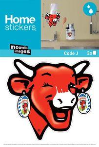 Nouvelles Images - sticker mural la vache qui rit cuisine - Adhesivo