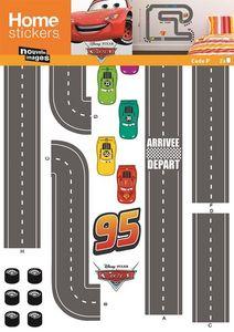 Nouvelles Images - sticker mural cars circuit voiture - Adhesivo Decorativo Para Niño
