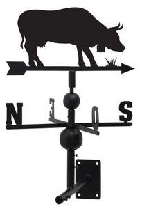 Aubry-Gaspard - girouette vache en fer forgé 97x47x47cm - Veleta