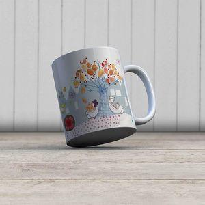 la Magie dans l'Image - mug couple sous un arbre - Taza
