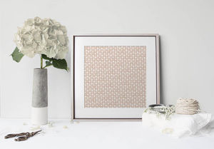 la Magie dans l'Image - print art trèfle beige blanc - Póster