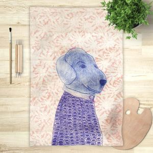la Magie dans l'Image - foulard mon petit chien fond rose - Fulard
