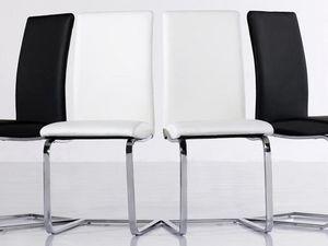 WHITE LABEL - lot de 2 chaises verona beiges - Silla De Recepción