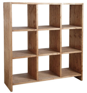 Aubry-Gaspard - bibliothèque 9 cases en épicéa ciré miel - Librería Abierta