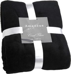 Amadeus - plaid doudou couleur noir - Manta De Viaje / Plaid