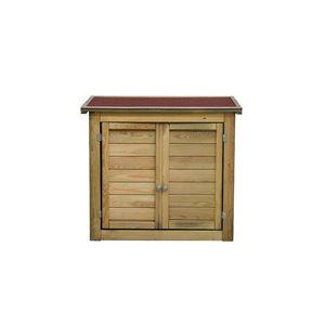 CEMONJARDIN - armoire de rangement en bois lisboa petit modèle - Guardaherramientas De Jardín