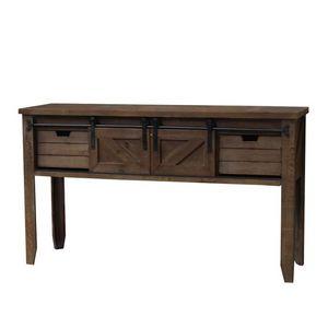 CHEMIN DE CAMPAGNE - console table drapier à tiroirs et porte coulissan - Mesa Table De Drapier