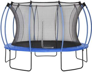Plum - trampoline junior avec protection réversible bleu  - Cama Elástica