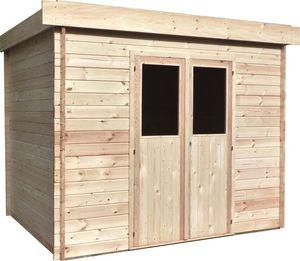 Cihb - abri de jardin moderne en bois non traité futuro 5 - Cobertizo De Jardín